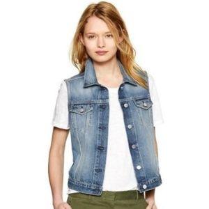 [Gap] 1969 Vintage Distressed Denim Jean Vest